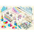 Isometric infographic set elements vector