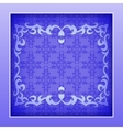 Paper frame with lace ornament vector