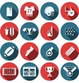 Flat icons for american football vector