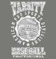 Varsity baseball vector
