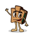 Brown cartoon purse vector