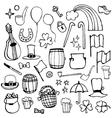 Icons symbols patricks day vector