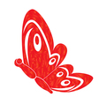 Fire butterfly vector