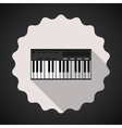 Music keyboard composer midi synthesizer flat icon vector