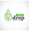 Eco drop concept symbol icon or logo template vector