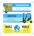 Logistic horizontal banners vector