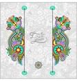 Unusual floral ornamental template vector
