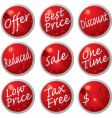 Sale buttons vector