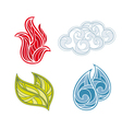 Abstract icon set of nature elements vector