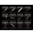 Line hairdressing and make-up icons vector
