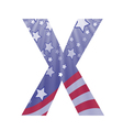 American letter x vector