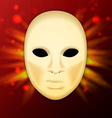 Llustration of realistic carnival or theater mask vector