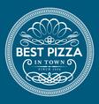 Vintage pizza logo template vector