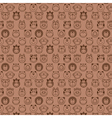 Funny animals seamless pattern vector