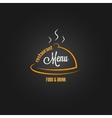 Food and drink menu design background vector