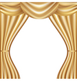 Golden curtain vector