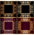Set of frame with lace square ornament vector