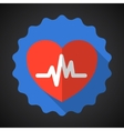 Medical heart flat icon vector