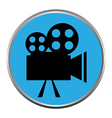 Icon button the videocamera silhouette vector