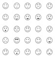 Circle face icons on white background vector