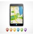 Mobile phone navigation set infographics vector