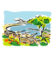 Naples gulf of naples vector