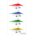Set of air sport on a white background vector