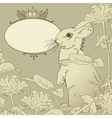 Background with rabbit vector