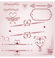 Valentines day borders vector