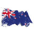 New zealand flag grunge vector