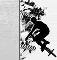 Bmx cyclist grunge poster vector