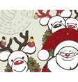 Christmas background with funny reindeers and vector