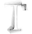 Sketch font letter t vector