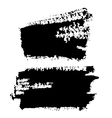 Black grungy abstract hand-painted brush strokes vector