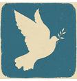 Dove of peace retro vector