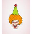 Head of the clown vector