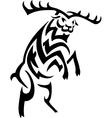 Deer in tribal style - vector