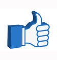 3d thumbs up icon vector