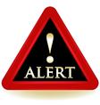 Alert warning sign vector