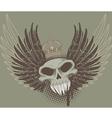 Skull wings vector