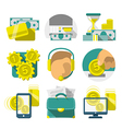 Flat banking icons vector