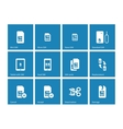 Sim cards icons on blue background vector