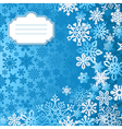 Blue christmas snowflakes background greeting card vector