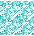 Linear pattern in tropical aqua blue with waves vector