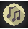 Music note flat icon vector