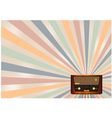Retro radio background vector
