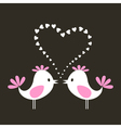 Two love birds vector