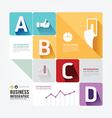 Modern design minimal style infographic templateca vector