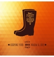 Rubber boots autumn abstract background vector