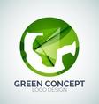 Earth logo design made of color pieces vector